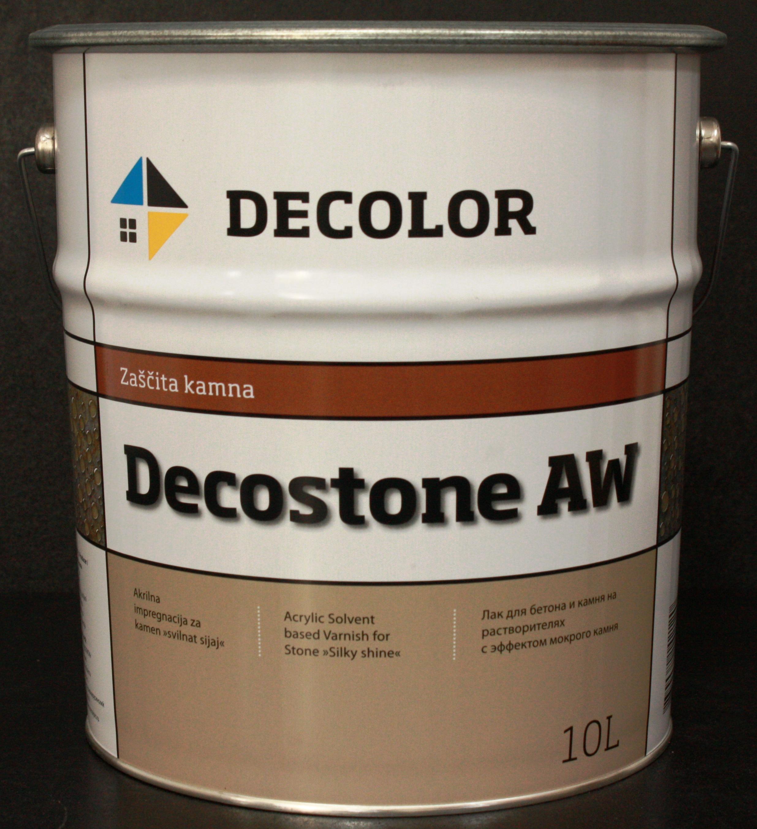 Защитный лак с эффектом мокрого камня Decostone AW