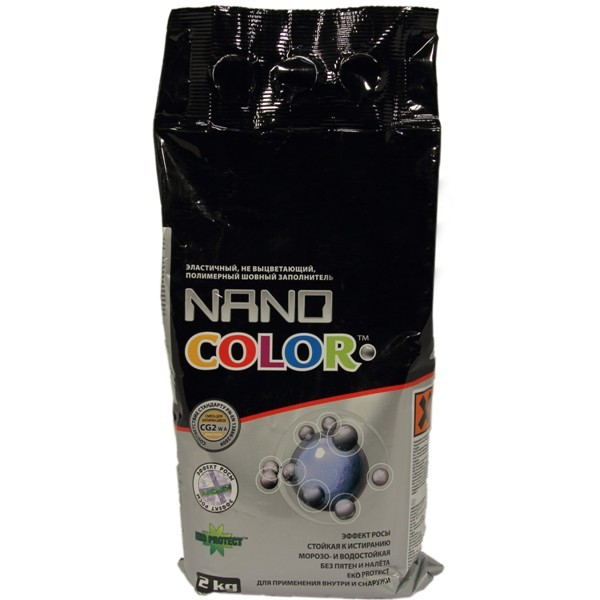 Затирка плиточная на цементной основе NanoColor