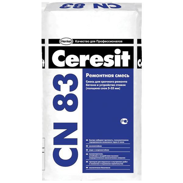 Быстротвердеющая смесь для ремонта бетона Ceresit CN 83