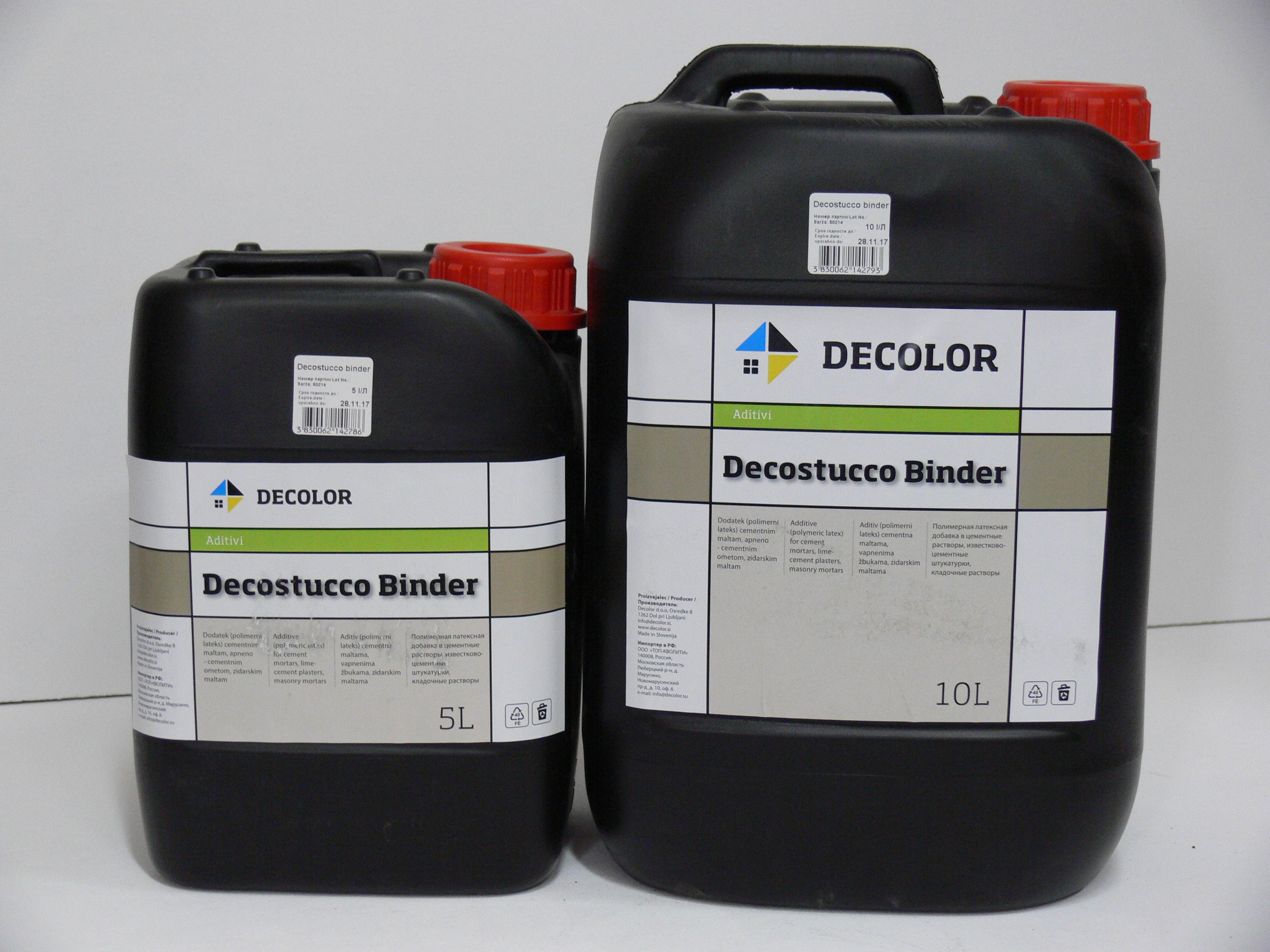 Пластификатор для штукатурок Decostucco Binder