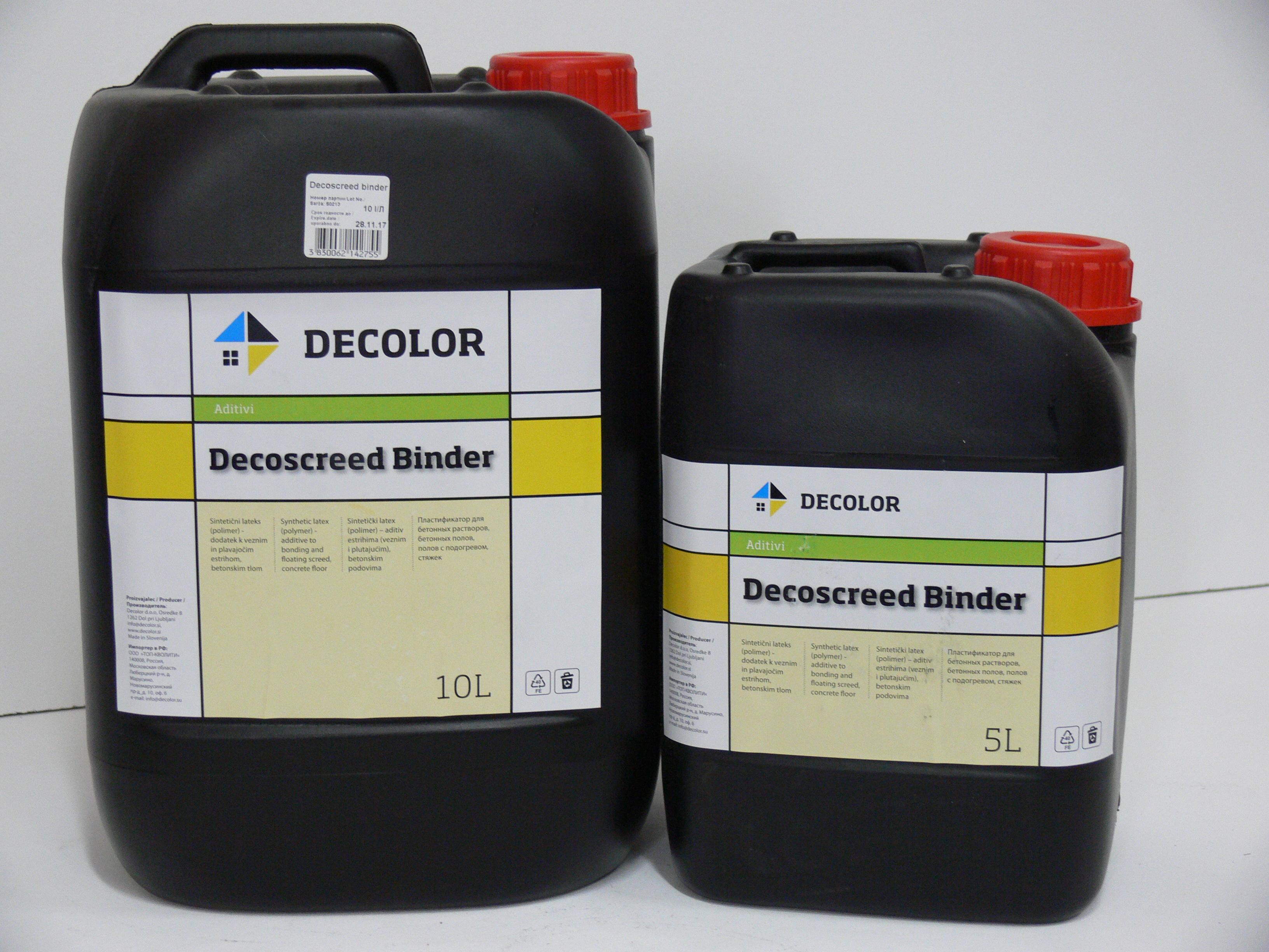 Латексный пластификатор для стяжки Decolor Decoscreed Binder