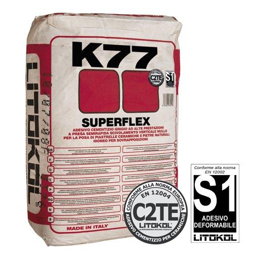 Суперэластичный плиточный клей Litokol Superflex K77
