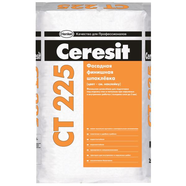 Шпаклевка фасадная финишная Ceresit CT 225 белая