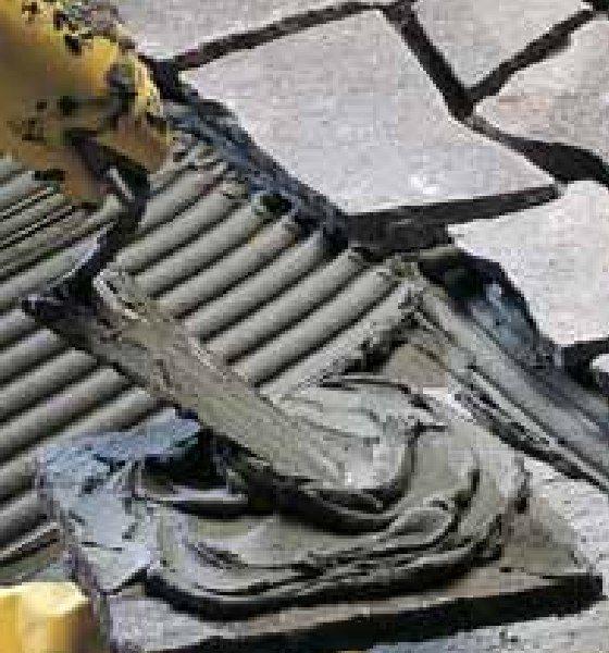 Толстослойный плиточный клей Mapei Keraflex Maxi серый
