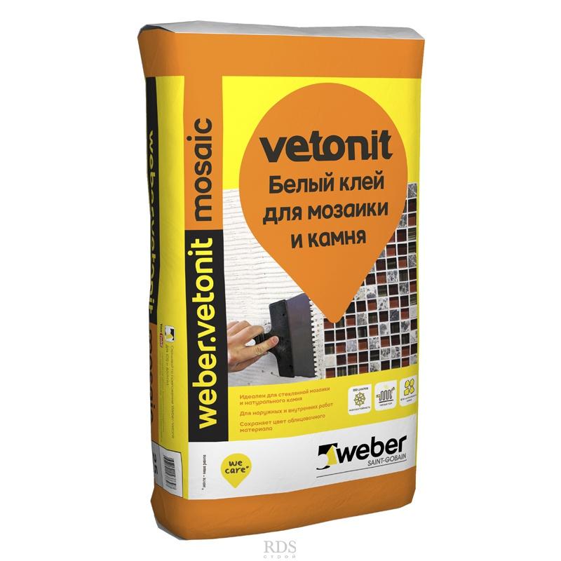 Weber Vetonit Mosaic плиточный клей для мозаики и камня