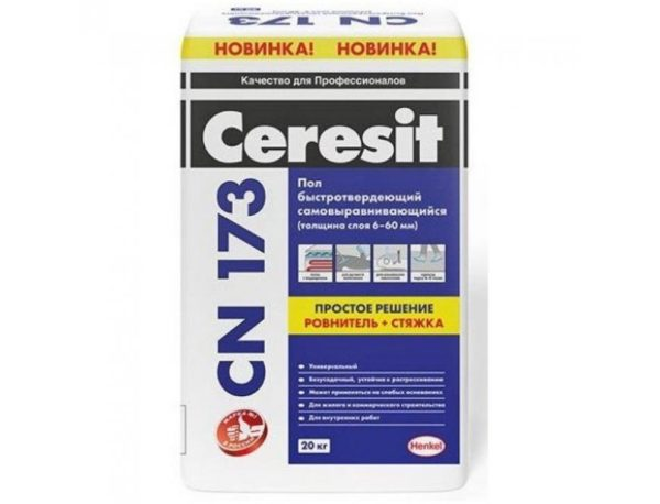 Пол наливной самовыравнивающийся Ceresit/Церезит CN 173 20 кг