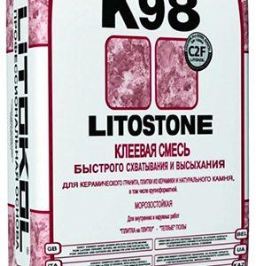 Быстротвердеющая клеевая смесь LITOKOL LITOSTONE K98 (ЛИТОКОЛ ЛИТОСТОУН К 98), 25 кг
