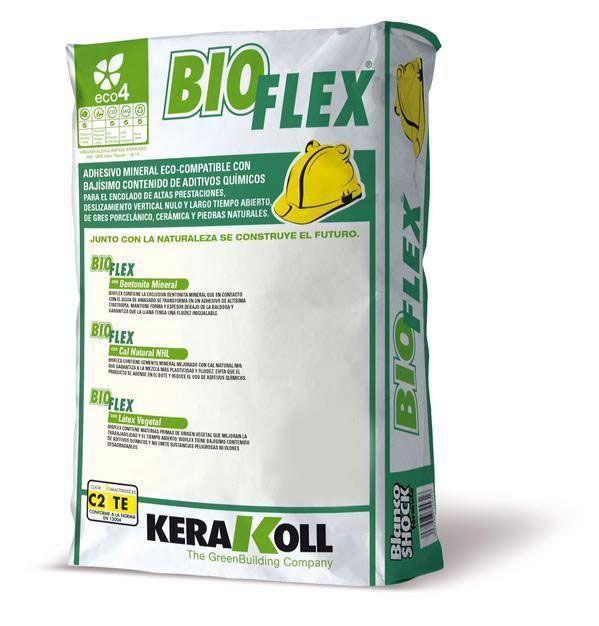 Клей для мозаики и плитки Bioflex, Ультра-белый, эластичный 25 кг.