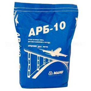 Mapei ARB 10 бетонная ремонтная смесь (от 50 до 300 мм, не менее 65 МПа) 25 кг