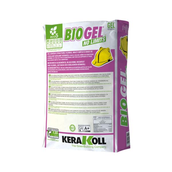 Клей для мозаики и керамогранита Kerakoll Biogel No Limits WHITE белый 25 кг.