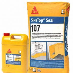 SikaTop Seal-107 Гидроизоляционный и выравнивающий раствор на цементной основе комплект А+В 25 кг