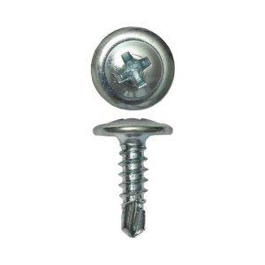 Саморезы с прессшайбой оцинкованные наконечник - сверло