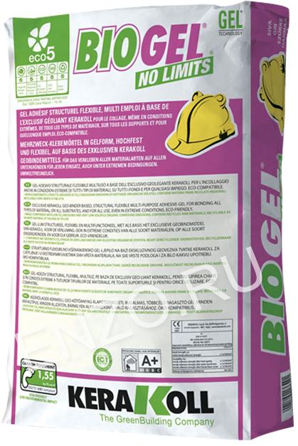 Kerakoll Biogel No Limits Grey, клей для плитки и керамогранита