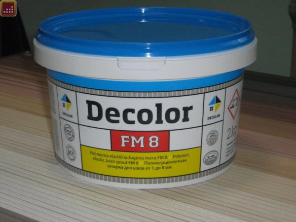 Полимерцементная затирка для заполнения межплиточных швов DECOLOR FM 8