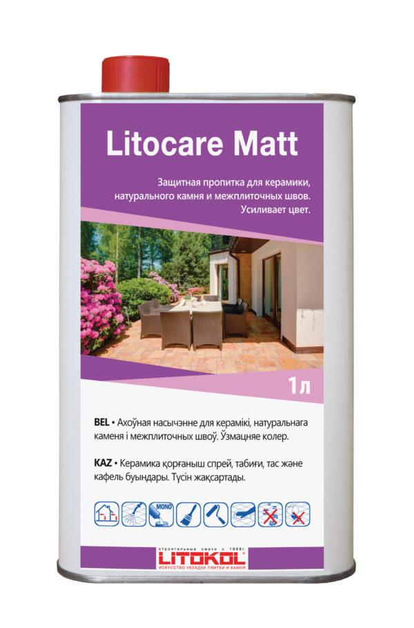 Защитная пропитка с эффектом восстановления цвета LITOKOL LITOCARE MATT (1л)