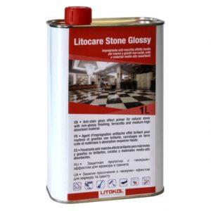Защита для мрамора и камня с эффектом мокрого камня LITOKOL STONE GLOSSY (1л)
