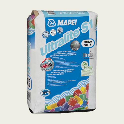 Mapei Ultralite S1 клей для плитки белый 15 кг