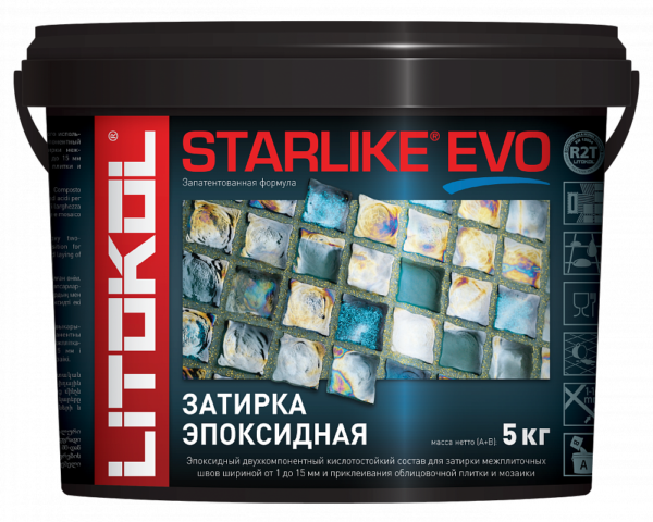 Затирка двухкомпонентная эпоксидная Litokol STARLIKE EVO
