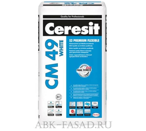 Ceresit CM49/20 кг Высокоэластичный плиточный клей для сверхкрупного формата