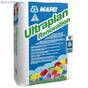Mapei Ultraplan Renovation наливной пол армированный фиброй (23 кг)